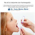 No sé si tratarme con homeopatía