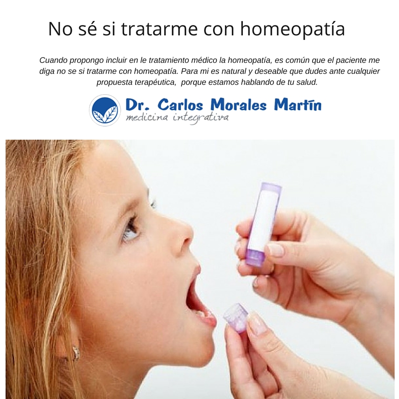 no se si tratarme con homeopatia